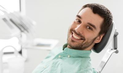 happy smiling dental patient