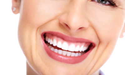 Close-up photo of a woman's beautiful smile