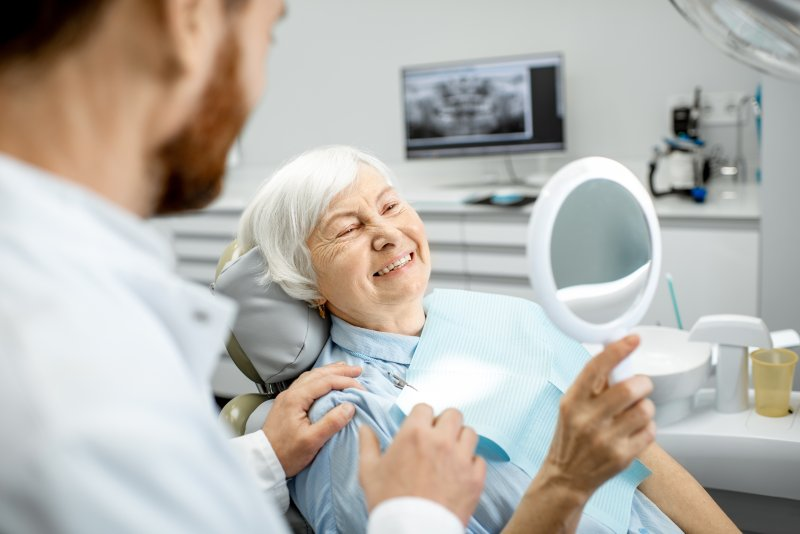 Mature woman at dental appointment